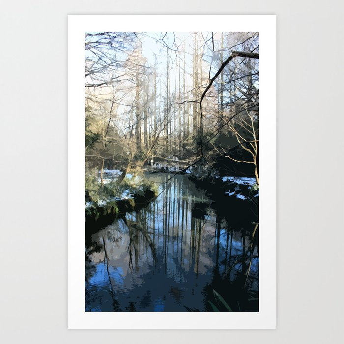 """""""Anime Creek"""" Art Print"""