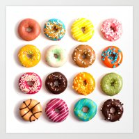 donuts Art Prints featuring Donuts by Lyre Aloise