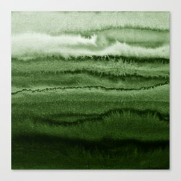 WITHIN THE TIDES FOREST GREEN by Monika Strigel Canvas Print