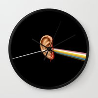 reservoir dogs Wall Clocks featuring Reservoir Dogs Ear by Van Hog Trio