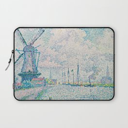 Paul Signac Canal of Overschie Painting Laptop Sleeve
