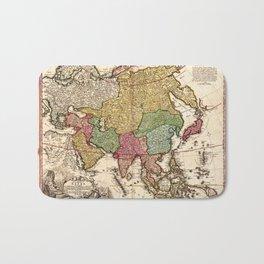 Map of Asia (1743) Bath Mat