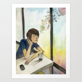 waiting  Art Print