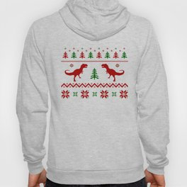 Christmas Ugly Dinosaur Sweater pattern Hoody