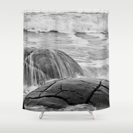 Rocky Shore Icing Shower Curtain