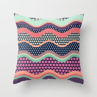 yetiland Throw Pillows featuring Patternwork XII by Metron