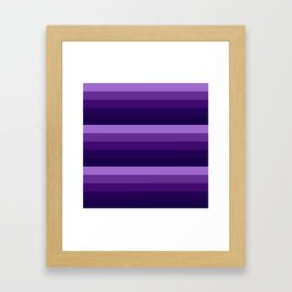purple lavender indigo stripes Framed Art Print