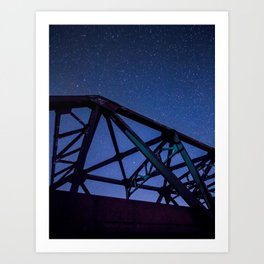 steel truss bridge and the Art Print