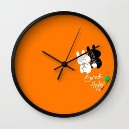 Do Not Hyde Wall Clock