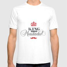 The King  SMALL White Mens Fitted Tee