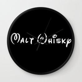 Malt Whisky Wall Clock