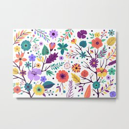 Colorful-Flowers Metal Print