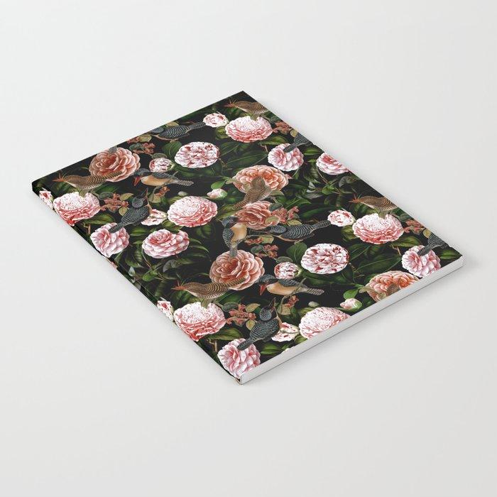 Vintage & Shabby Chic - Blush Camellia & Kingfishers Notebook