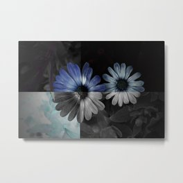 Tones in Blue Metal Print