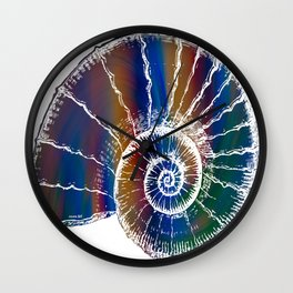 The Nautilus Shell Transparent 2 Wall Clock