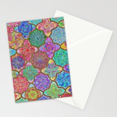 Olé México-mexican colorful mandala pattern Stationery Cards
