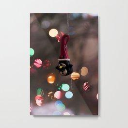 Penguin Santa Photography Print Metal Print