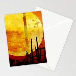 moonset  Stationery Cards