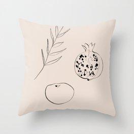 FRUIT SKETCH 2 Throw Pillow