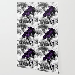 Purple Flowers Pop Of Color Wallpaper