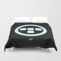 tron Duvet Covers featuring Tron Lives! by Universo do Sofa - Artes & Etecetera