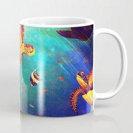 Beautiful Sea Turtles Under The Ocean Painting Coffee Mug