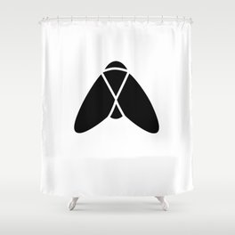Bugs: abstract Fly Shower Curtain