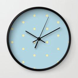 Softness in Blue Wall Clock