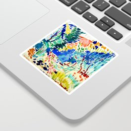 Henri Matisse Landscape at Collioure Sticker