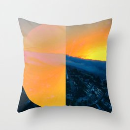 That Sun That Fell Off San Bruno Mountain Throw Pillow