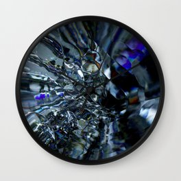 This glass is shattered Wall Clock