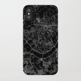 Seoul Black Map iPhone Case