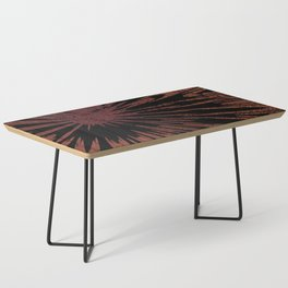 Native Tapestry in Burnt Umber Coffee Table
