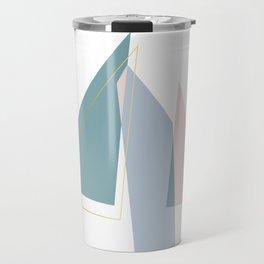 Geometric Minimalism Triangle Travel Mug