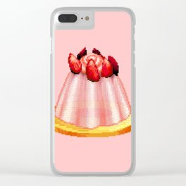 Jelly Cake Pixel Art Clear iPhone Case