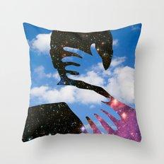 Sky Kiss Throw Pillow