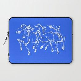 Stampede in blue Laptop Sleeve
