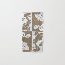 Koi Fish paper cut Hand & Bath Towel