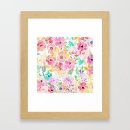Classy watercolor hand paint floral design Framed Art Print