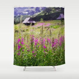 Fireweed In The Mountains Shower Curtain