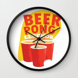 Beer Pong Legend Party Wall Clock