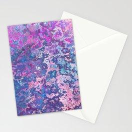 Paint Splatter in Blue Raspberry Stationery Cards