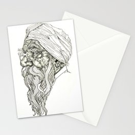 Geometric Graphic Black and White Drawing Indian Sikh Stationery Cards