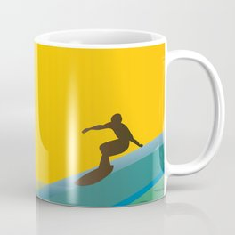 Surfer, waves and palms Coffee Mug
