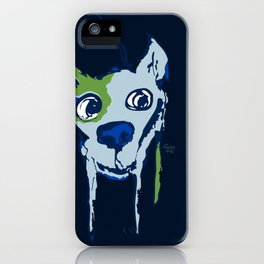 Anton - blue and lime iPhone Case