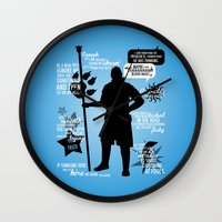 dragon age inquisition Wall Clocks featuring Dragon Age - Anders by firlachiel