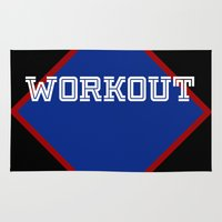 workout Area & Throw Rugs featuring WORKOUT by Gravityx9