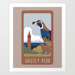 Grizzly Peak Travel Poster Art Print