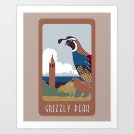 Grizzly Peak Travel Poster Art Print