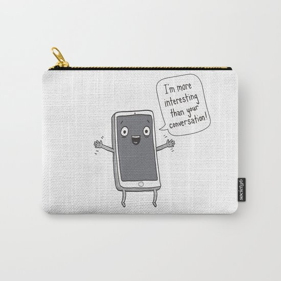 Distracting Little Phone Carry-All Pouch